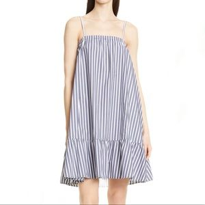 ATM NWT marina poplin tent stripe dress